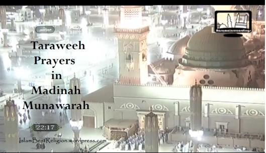Taraweeh in Madinah